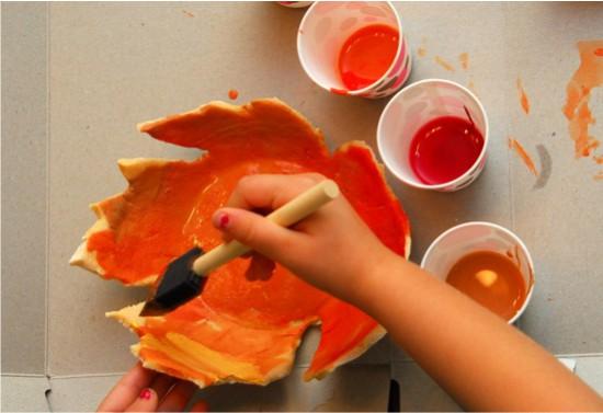 Festés egy tál tésztát