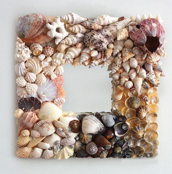 Keret egy dekoratív tükörhéjhoz