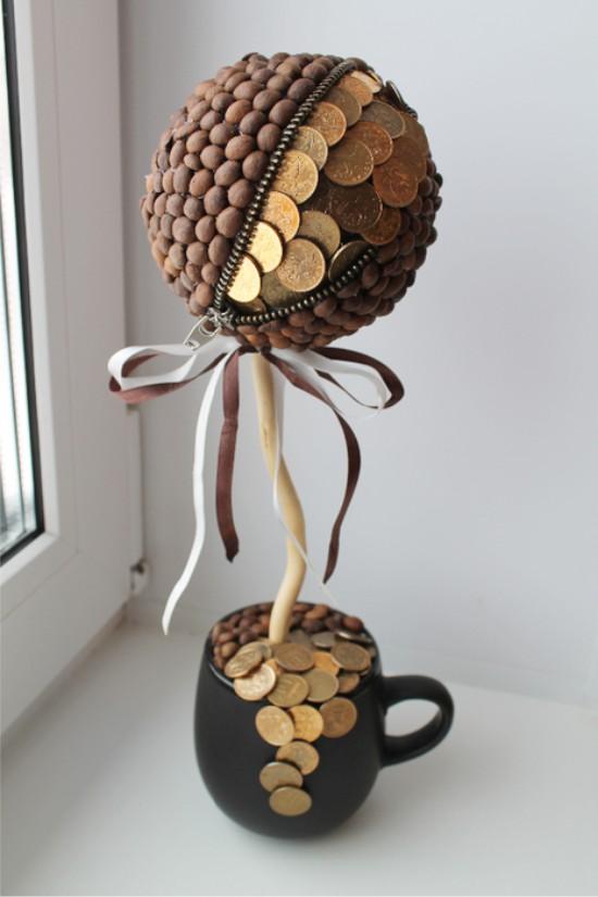 Készpénz műszerek a kávé