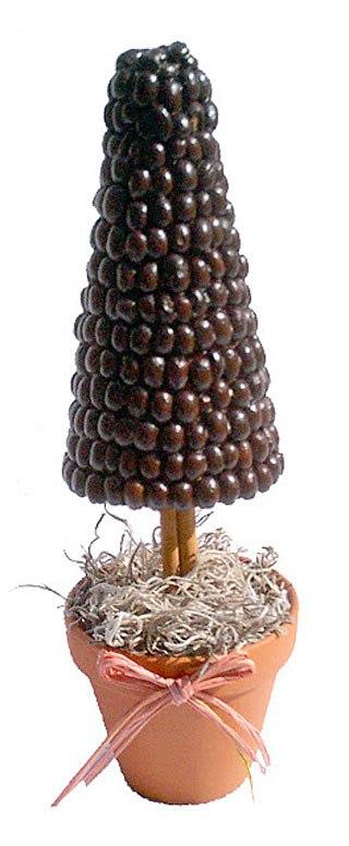 Karácsonyfa készült szemes kávé