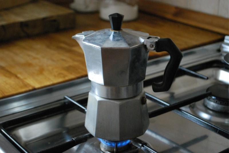 Ocakta Şofben kahve makinesi