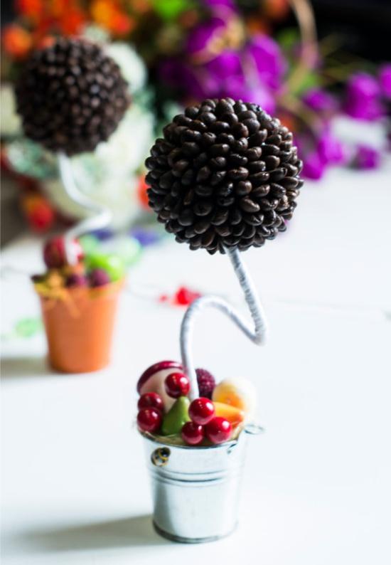 Gyümölcs műbőr egy vödörben