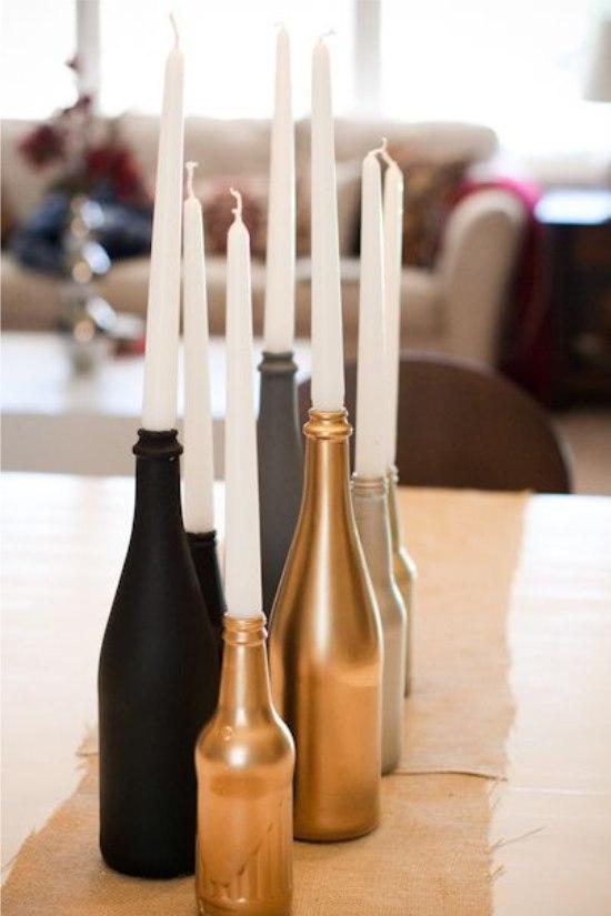 Gyertyatartó palackok