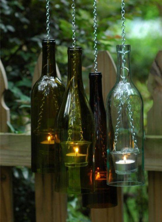 A vágott üvegből készült gyertyák kupakjai