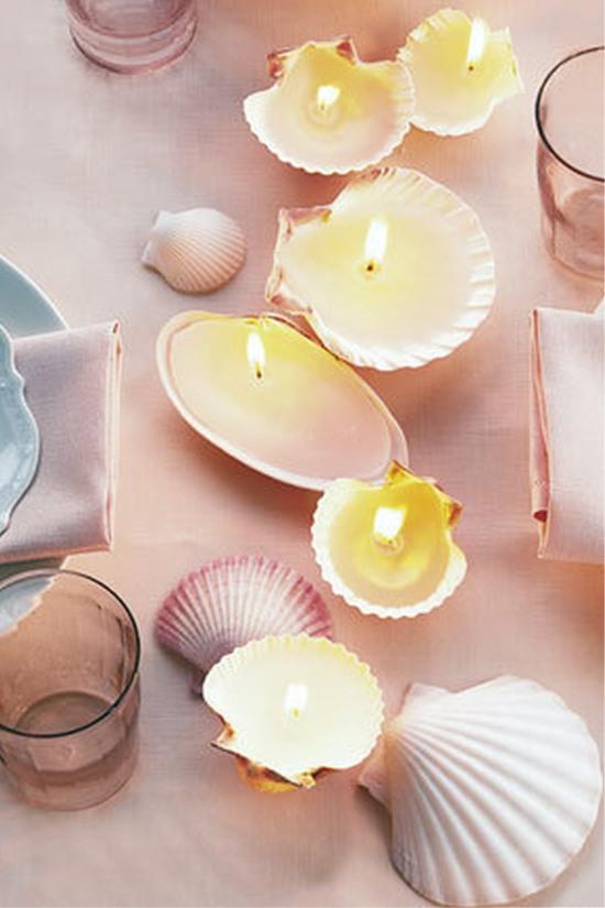 Seashell mini gyertyák