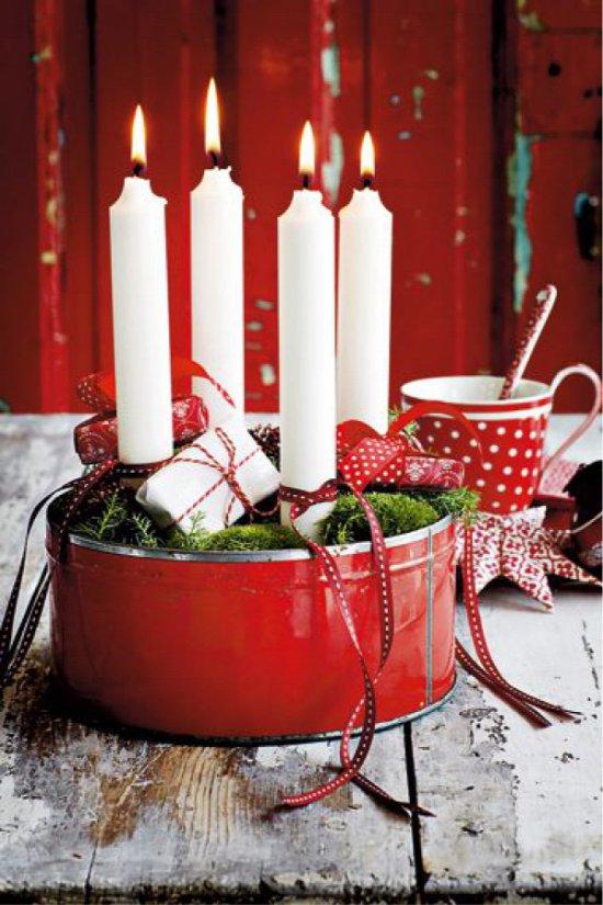 Karácsonyi gyertya konzervdoboz