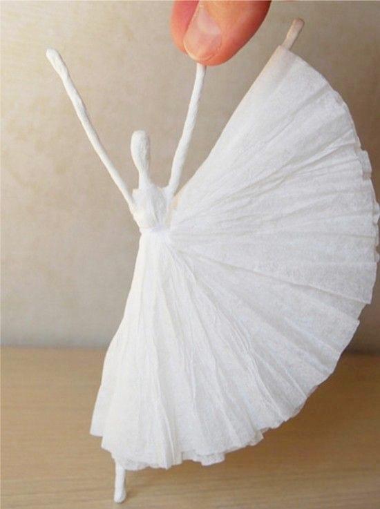 Balerina papírszalvétákból