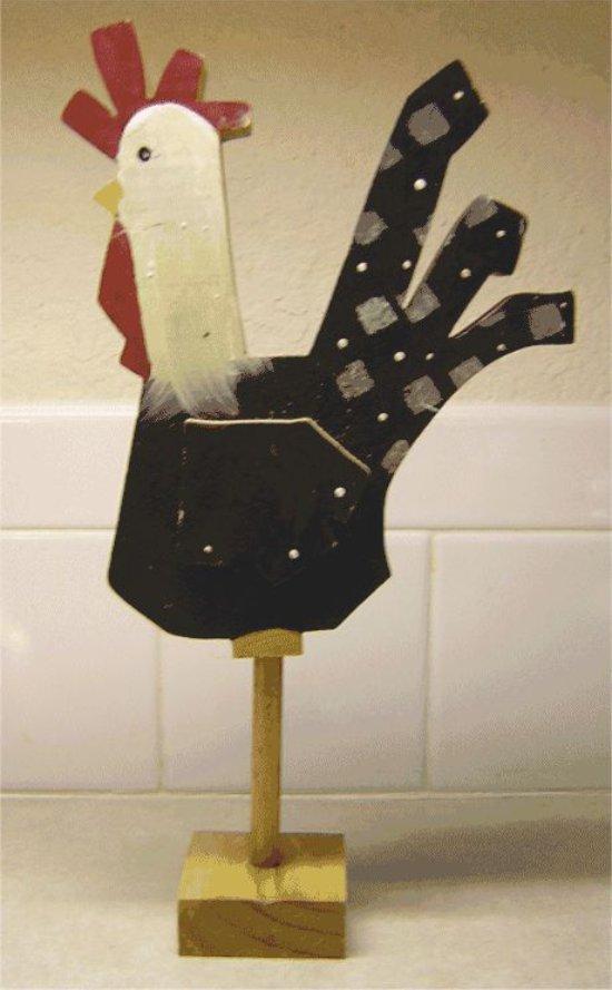 צלמית תרנגול מעץ