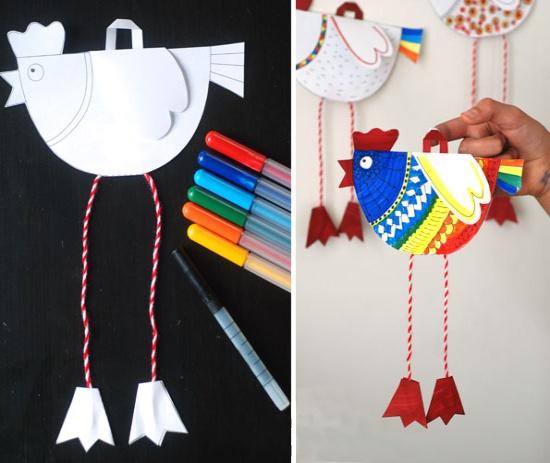 Gyermek kézművesség kakasok formájában - utasítások