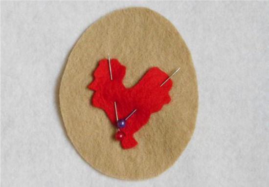 עיטור הפסחא עם תרנגול