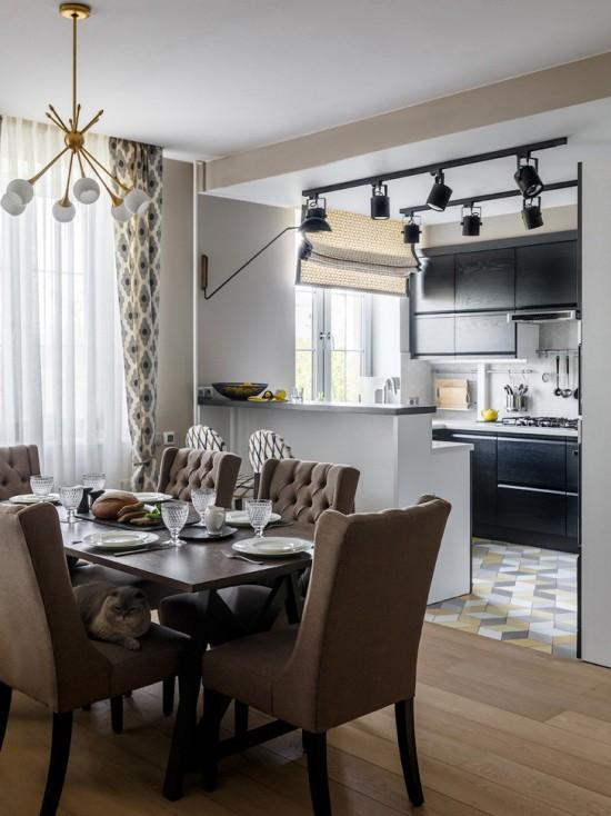 Cuisine-salon de 30 mètres carrés. m