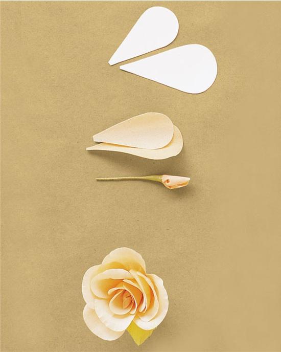 Ruusu aaltopaperista