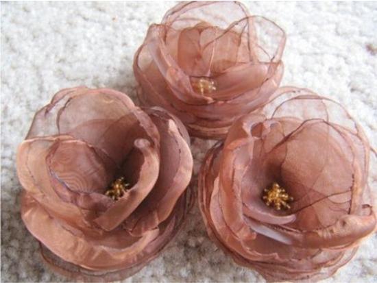 Organza Virágok