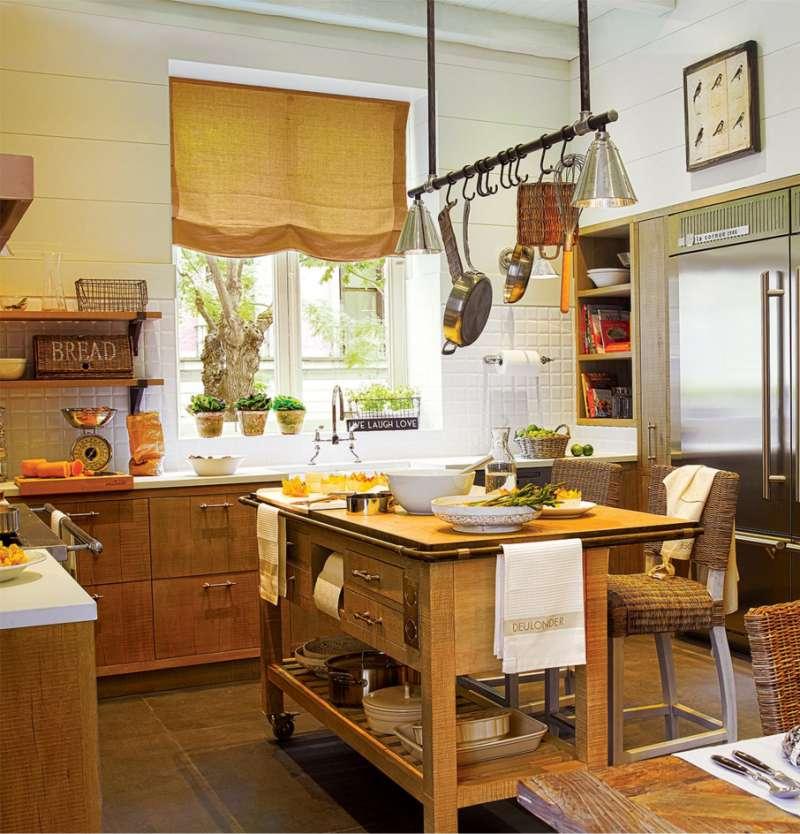 Sziget egy vidéki ház konyhájában