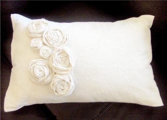 Szövet rózsa párna