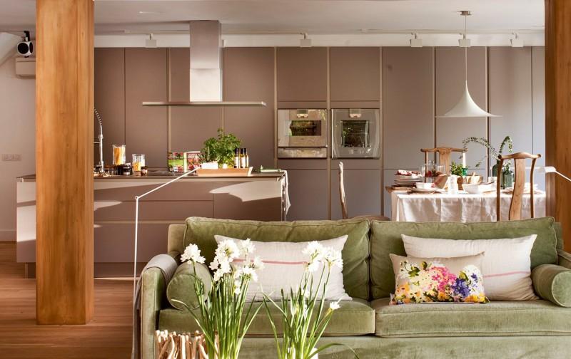 Kombinált konyha-nappali