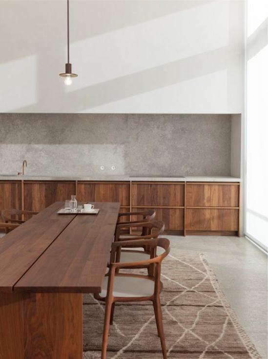 Intérieur de cuisine de style écologique
