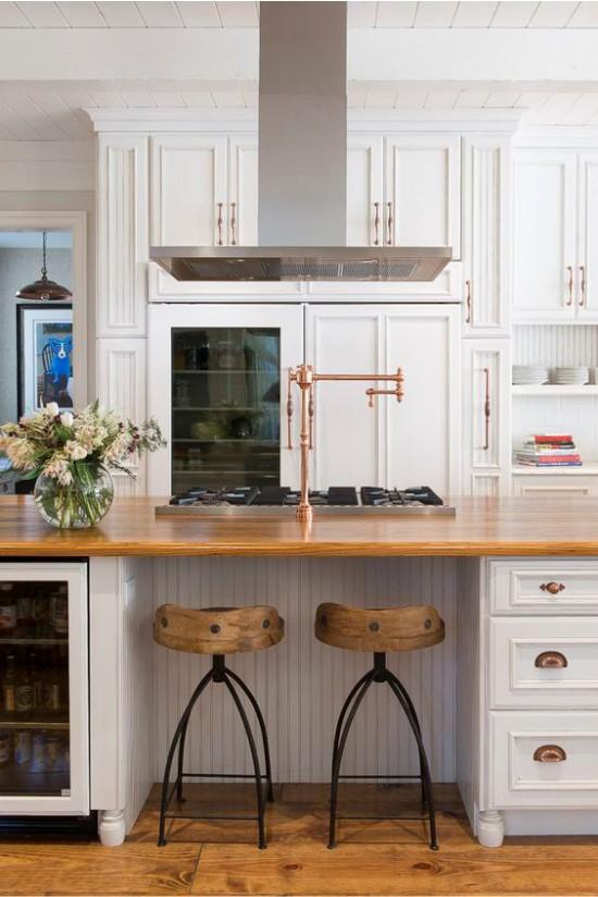 L'intérieur de la cuisine dans le style des classiques américains