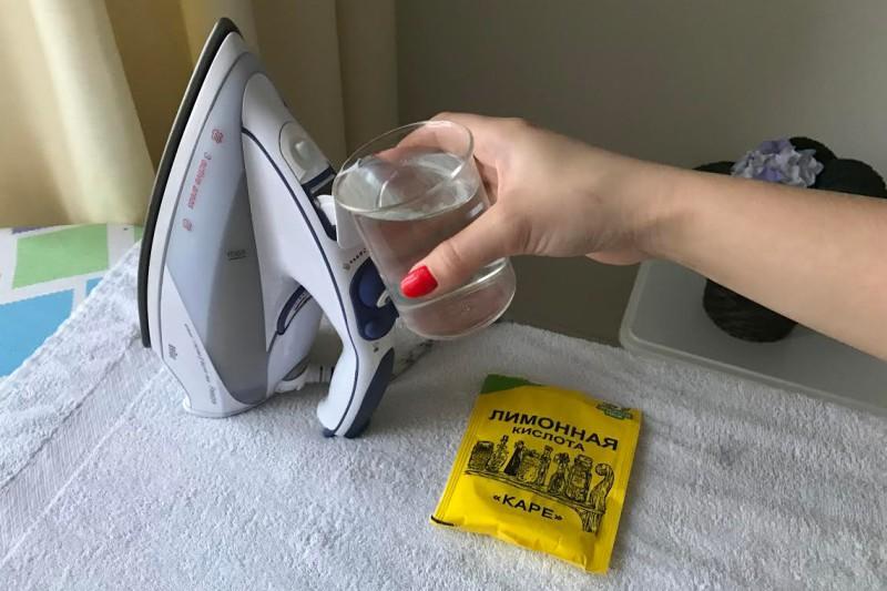 Hogyan tisztítsuk meg a vasalót citromsavval