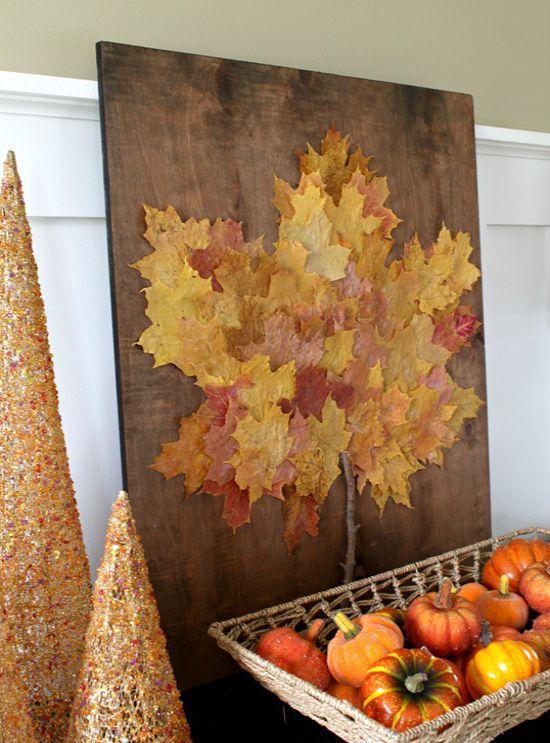 Panneau de feuille d'automne