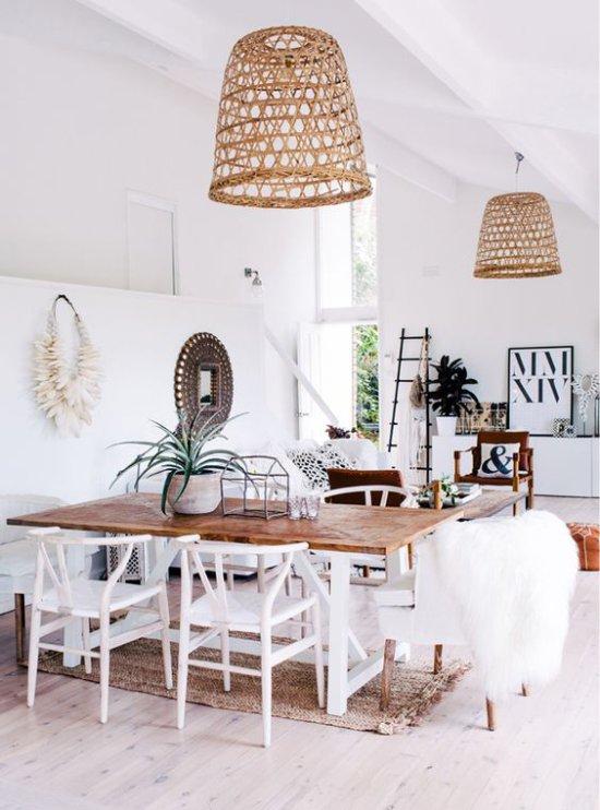 Lampes en osier de style écologique