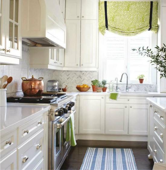 Textiles à l'intérieur de la cuisine