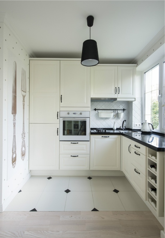 Hvidt køkken 5 kvadrat. m