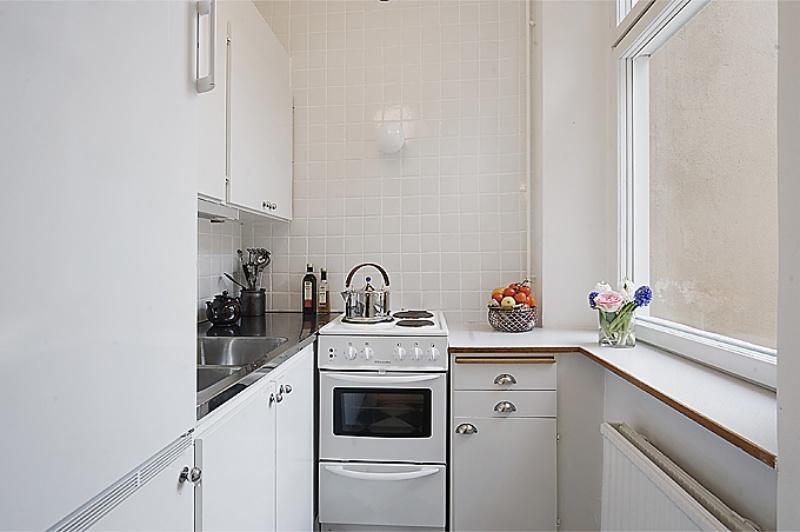 Hvidt lille køkken