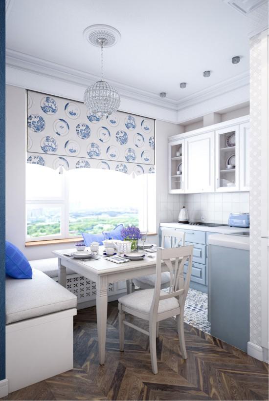 Design projekt køkkenareal på 7,3 kvadratmeter. m