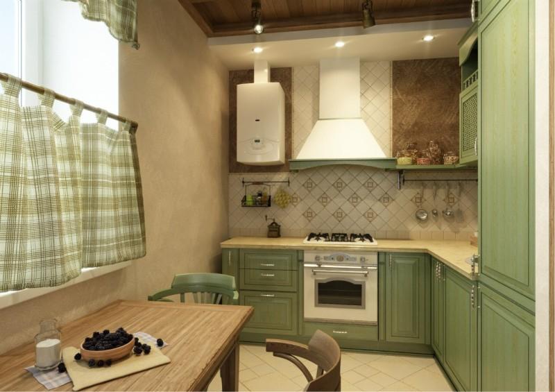 פרויקט עיצוב של מטבח עם טור גז