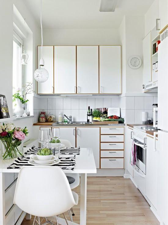 Hvidt køkkenindretning