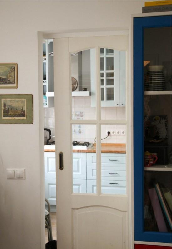 מטבח עם דלת הזזה