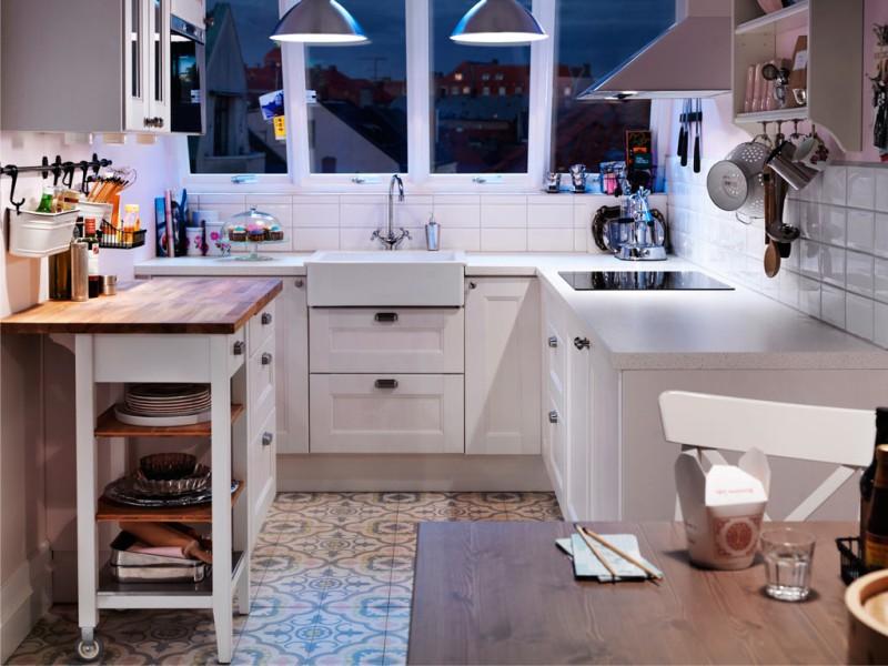 Belysning et lille køkken