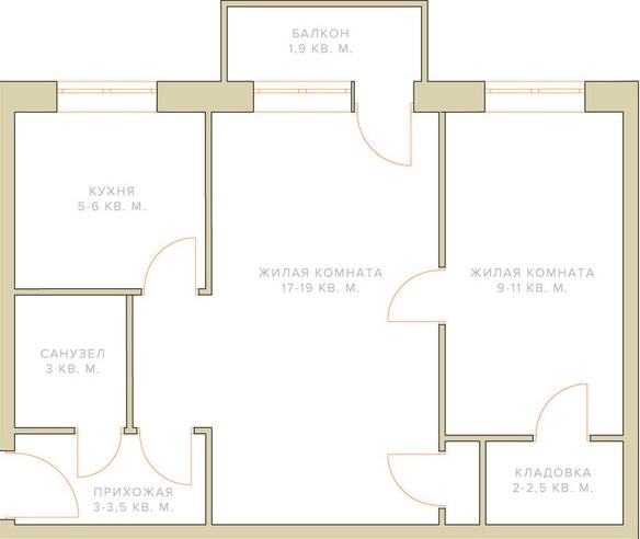 תוכנית הדירה לפני שיפוץ
