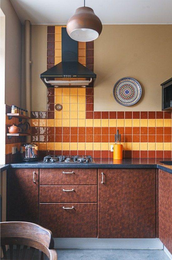 Brown Corner Kitchen