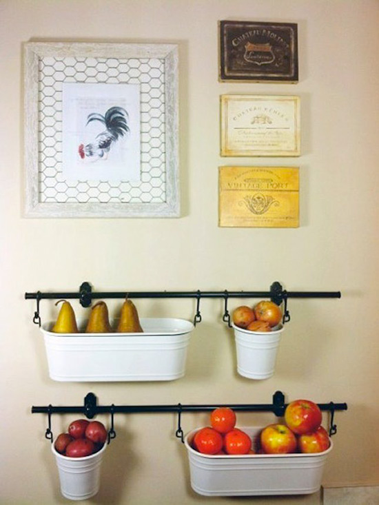 קיר אחסון פירות