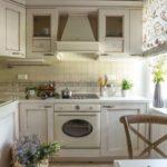 Design projekt hjørne køkken i stil med Provence