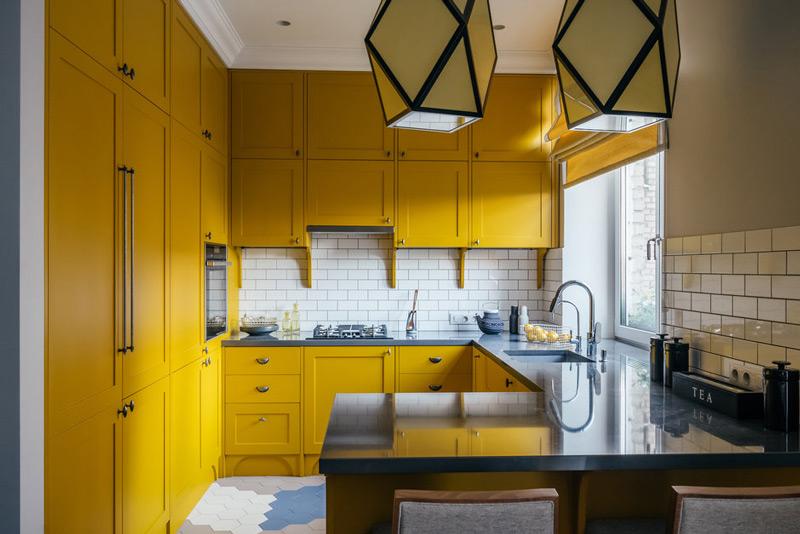 Kjøkken-stue i Stalin i etterkrigstypen