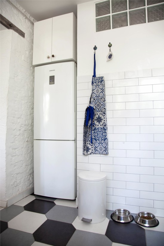 מטבח עם נישה למקרר