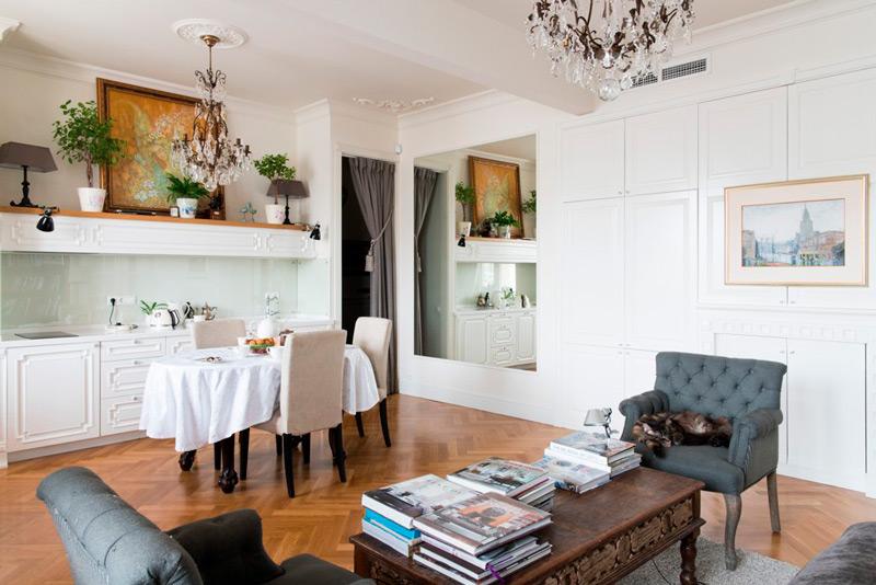 Kombinert kjøkken-stue i Stalinka
