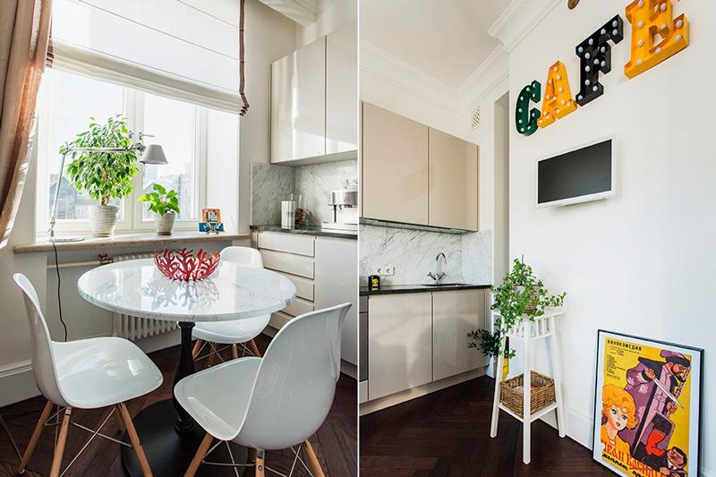Un exemple de décoration de la cuisine à Stalinka