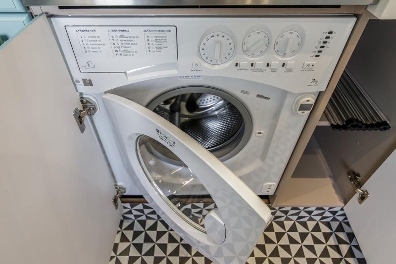Exemple de laveuse intégrée