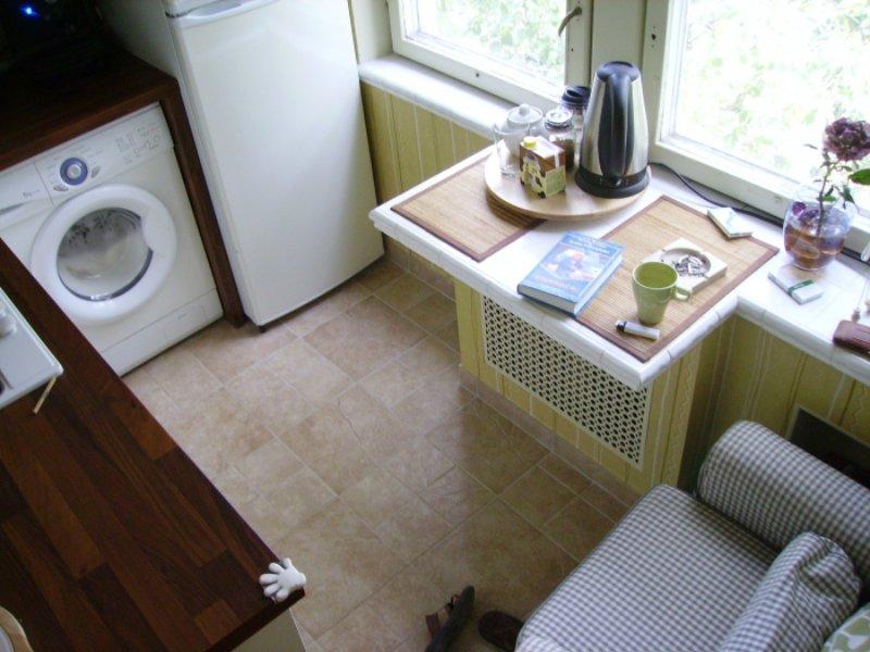 מכונת כביסה במטבח בחרושצ'וב