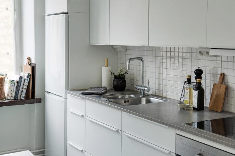 Kis méretű lapok a modern konyhai kötény díszítésében