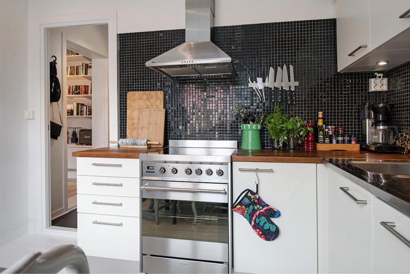 Mozaik kötény a modern konyhában