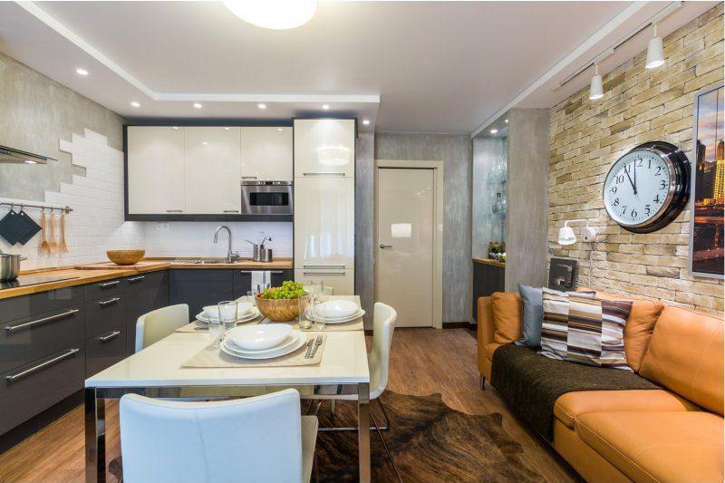 Sarok konyha fali szekrény nélkül