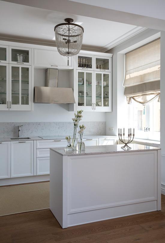 Intérieur de la cuisine-salon à Stalinka