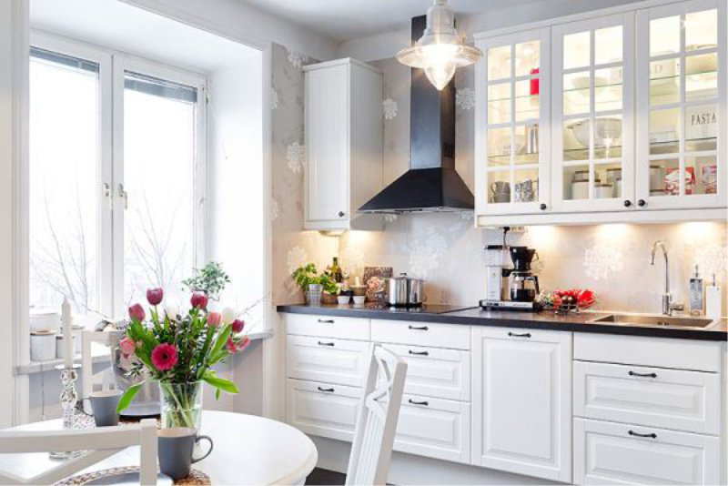Kuchyně s tapetou