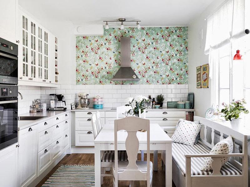Tapeta v interiéru kuchyně