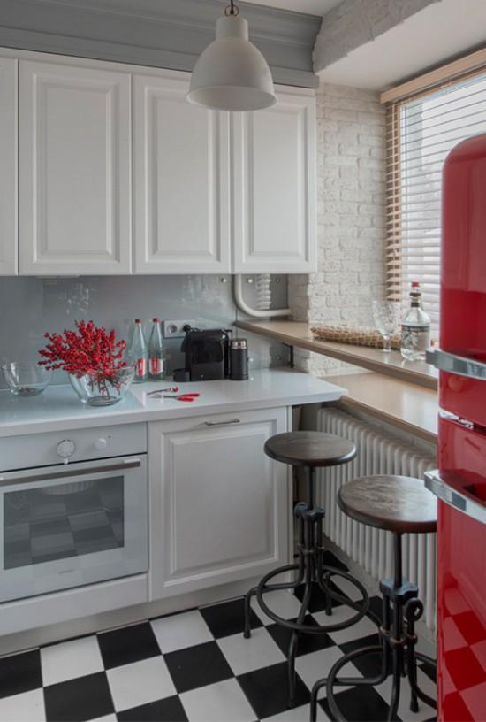 Spiseplads i køkken-stuen i Khrusjtsjov